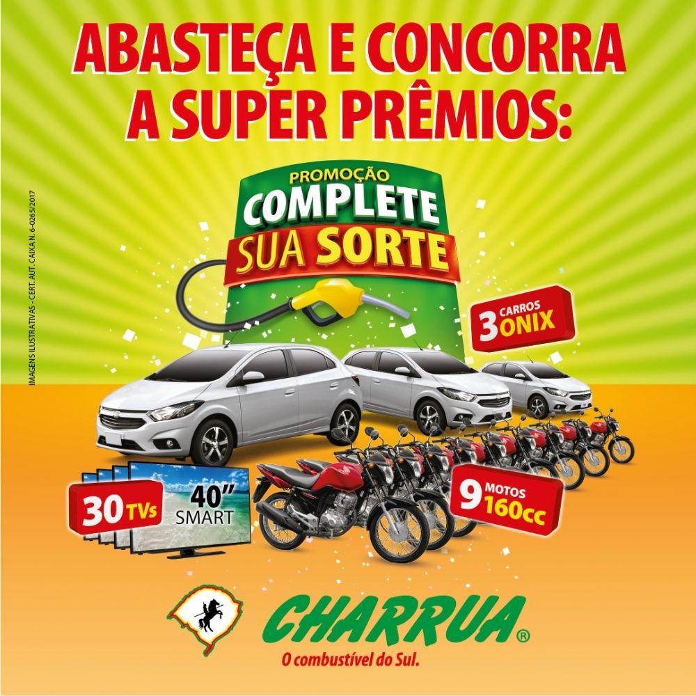 CHARRUA LANÇA PROMOÇÃO COMPLETE SUA SORTE