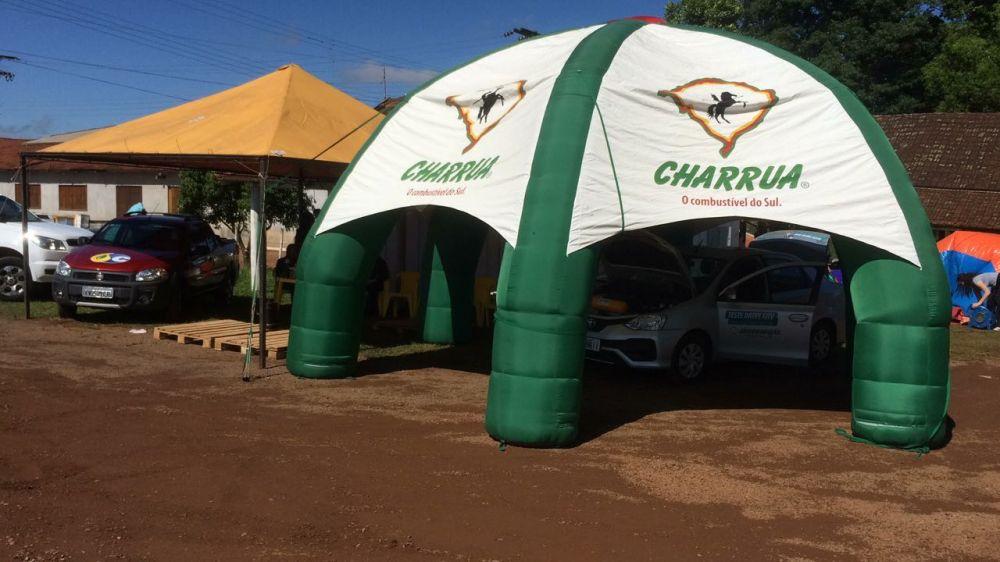 Charrua mostra potencial do seu GNV em evento para motoristas