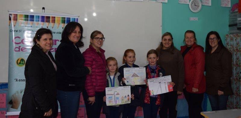 Alunos premiados - escola municipal Floriano Peixoto