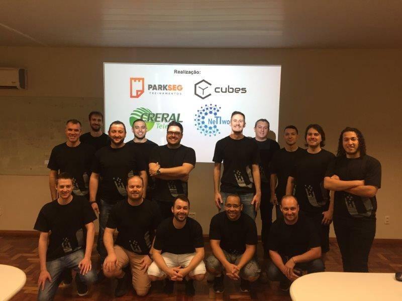 Grupo técnico que participou do treinamento