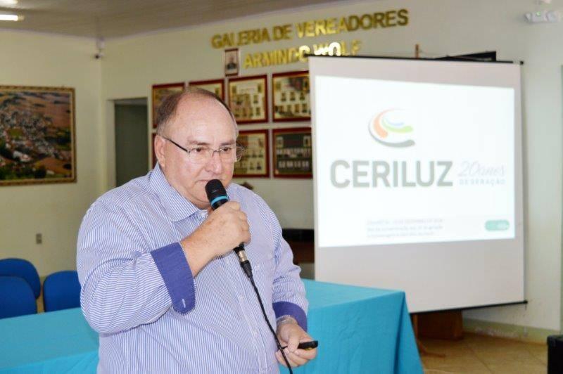 Presidente Iloir fala na solenidade em Chiapeta