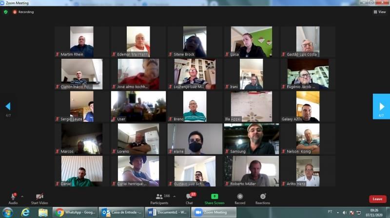 Delegados da certel na reunião digital