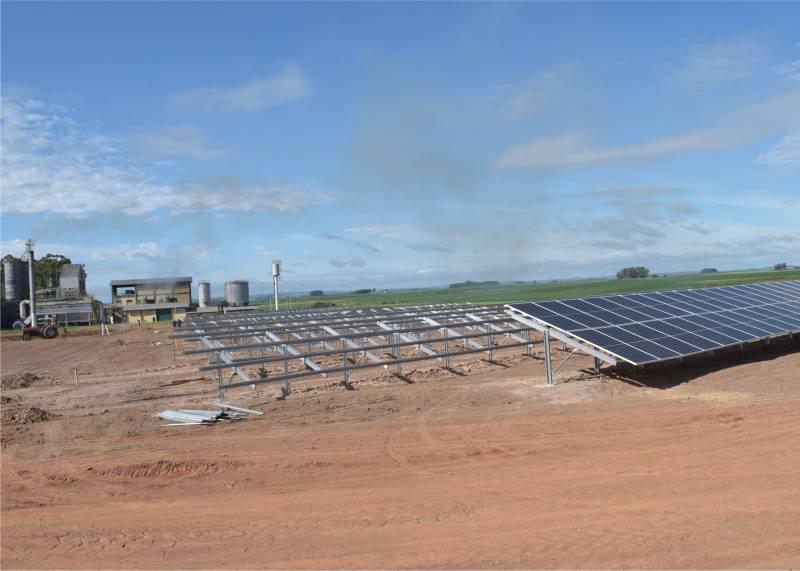 UFV São Sepé está sendo construída junto a usina termelétrica da cooperativa