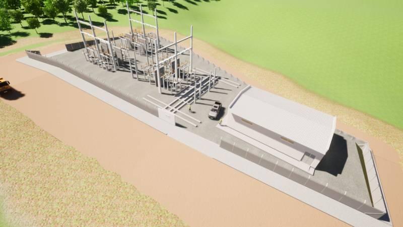 Maquete do projeto da subestação
