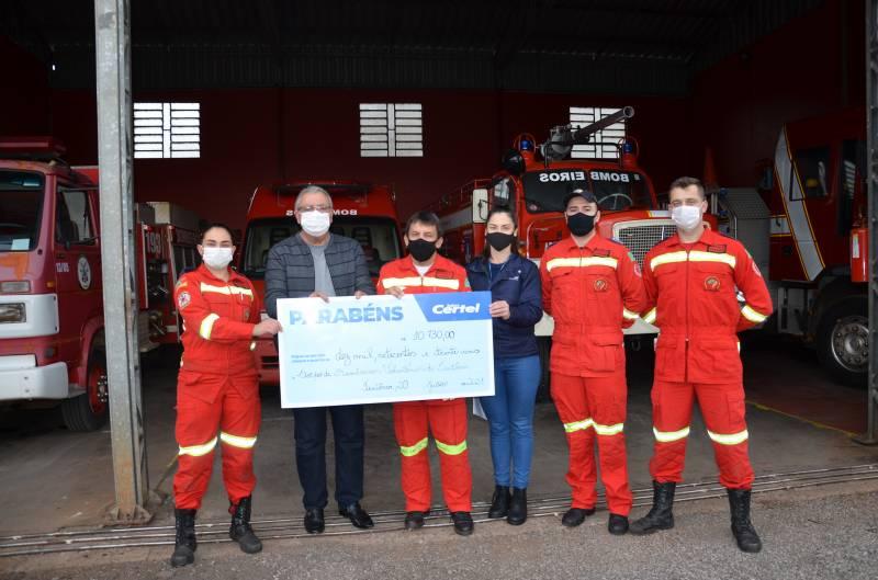 Corpo de Bombeiros Voluntários também foi beneficiado