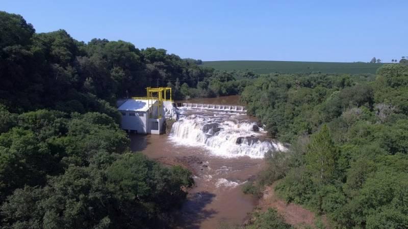 Barragem da Central Hidrelétrica Geradora - CGH Pinheirinho – Coprel/RS